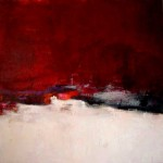 Rote Landschaft 100 x 100 2011