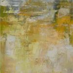 Gelb abstrakt 40 x 120