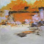 Geträumte Landschaften 1  2018 80 x 80 cm
